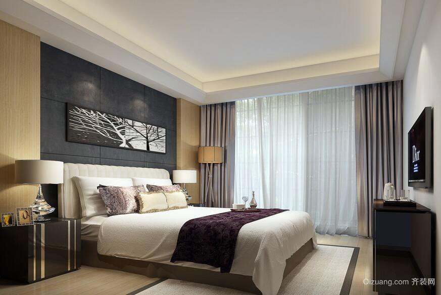 90平米精致的欧式风格卧室装修效果图