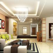 100平米大户型客厅室内设计装修效果图鉴赏