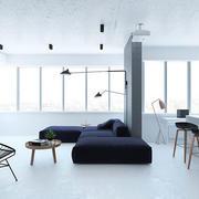 单身公寓客厅效果图