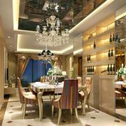 90平米欧式精致餐厅设计装修效果图鉴赏