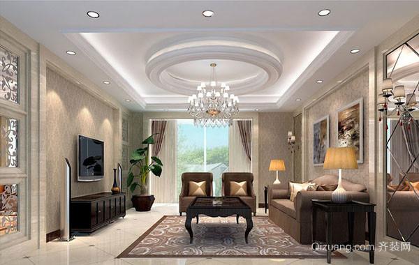 200平米别墅型欧式精致典雅客厅装修效果图
