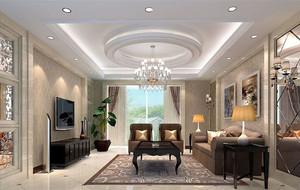 现代欧式风格精致典雅时尚客厅吊顶装修效果图