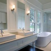 欧式别墅型卫生间设计装修效果图欣赏
