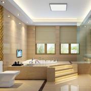 120平米欧式卫生间室内设计装修效果图实例
