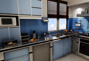 欧式小户型厨房设计装修效果图鉴赏