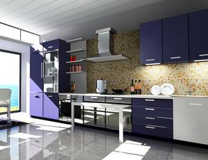 别墅型欧式风格开放式厨房装修效果图