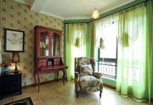 2016年全新款美式田园风格卧室窗帘装修效果图