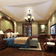 美式风格卧室吊顶装修