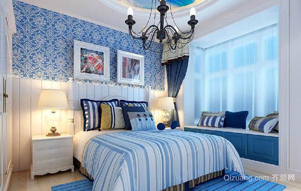 2016年全新款大户型地中海风格精致卧室装修效果图