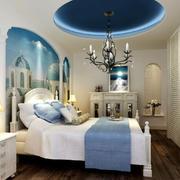 地中海风格卧室吊顶设计