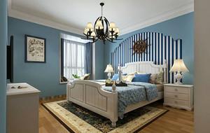 地中海风格精致卧室效果图