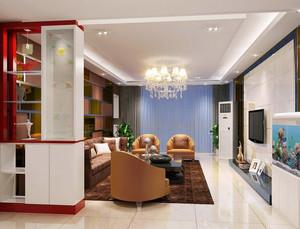 2016精致的中式风格客厅电视背景墙装修效果图
