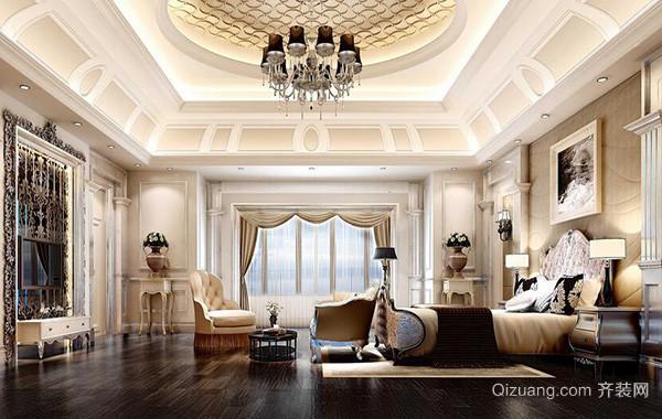 100平米别墅欧式风格卧室背景墙装修效果图