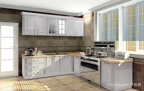 简约欧式风格精致实用小厨房装修效果图实例