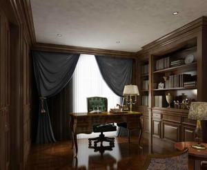 大户型欧式风格书房室内设计装修效果图