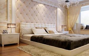 2016别墅型欧式风格卧室背景墙装修效果图