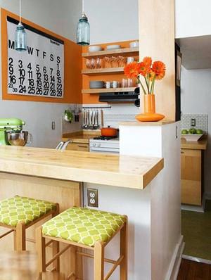 现代简约风格精致时尚家庭吧台装修效果图