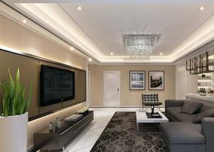 完美的现代欧式大户型室内电视背景墙装修效果图