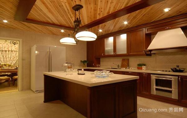别墅型美式风格厨房室内设计装修效果图