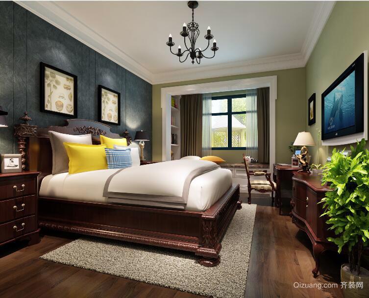 2016欧式风格大户型卧室装修效果图实例