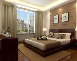 欧式别墅型卧室背景墙装修效果图实例