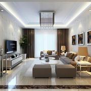 90平米现代客厅室内设计装修效果图