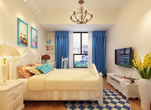 15平米现代简约风格儿童房装修效果图