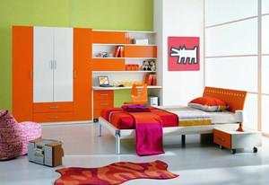 现代简约时尚混搭色调儿童房装修效果图