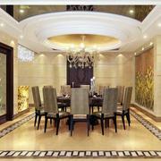 2016大户型欧式风格餐厅装修效果图实例