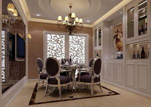 欧式小户型餐厅背景墙装修效果图实例