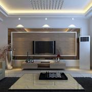 精致客厅电视背景墙