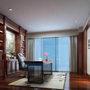 2016现代中式书房室内设计装修效果图