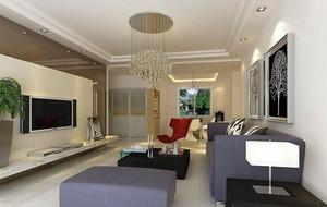 现代简约风格客厅电视背景墙 装修效果图赏析