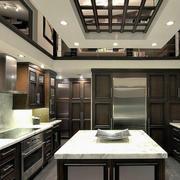 2016欧式现代大户型厨房室内设计装修效果图