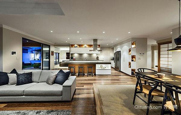 100平米现代简约风格时尚室内装修效果图