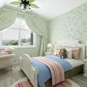 清新自然卧室窗帘设计