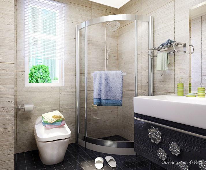 120平米现代都市风格简约时尚卫生间隔断装修效果图