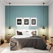 80平米单身公寓自然北欧风格卧室装修效果图