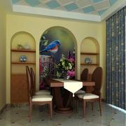 现代简约中式风格餐厅背景墙装修效果图