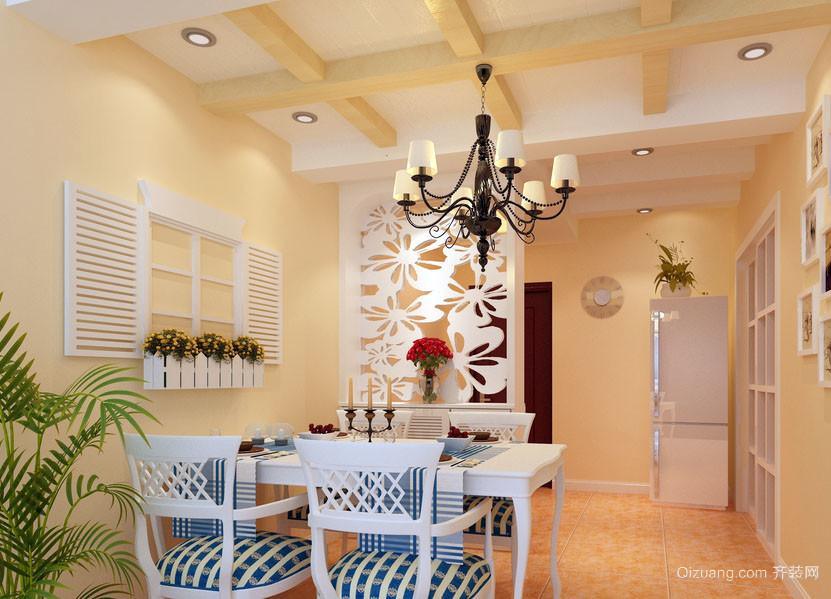 地中海风格精致典雅时尚餐厅装修效果图
