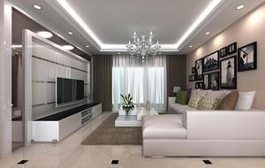 2016大户型欧式客厅室内背景墙设计装修效果图
