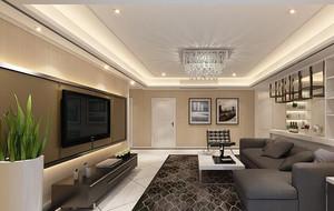 小户型欧式客厅室内电视背景墙设计装修效果图