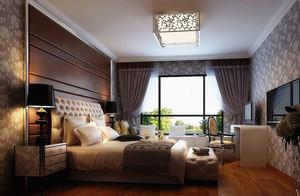 三居室欧式卧室室内设计装修效果图欣赏