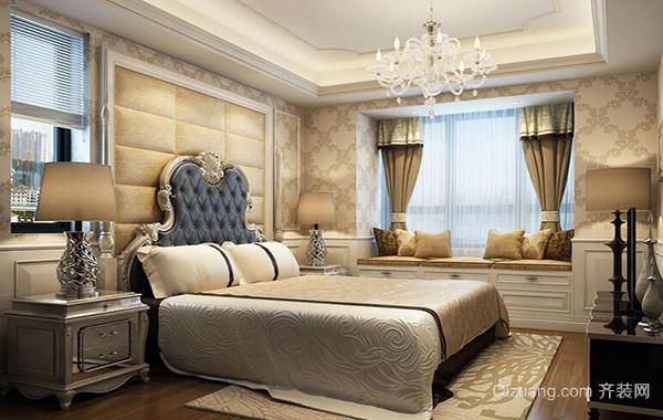 现代欧式别墅型卧室背景墙装修效果图鉴赏