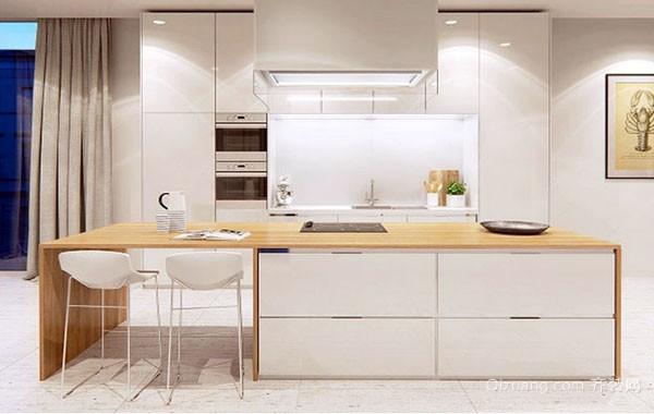 2016年现代极简主义风格厨房装修效果图赏析