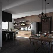 极简主义风格厨房效果图