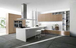 90平米现代时尚简约自然小厨房装修吧效果图