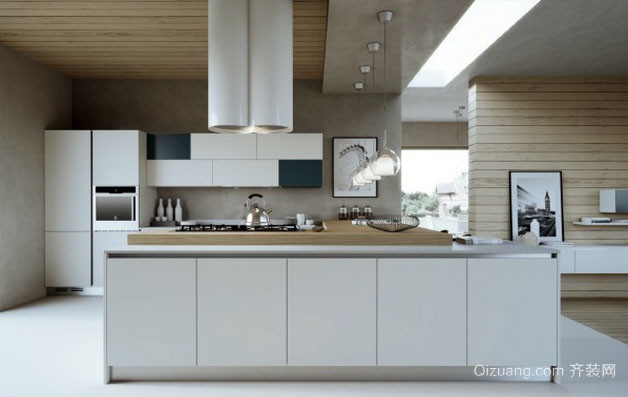 北欧风格自然简约时尚厨房装修效果图