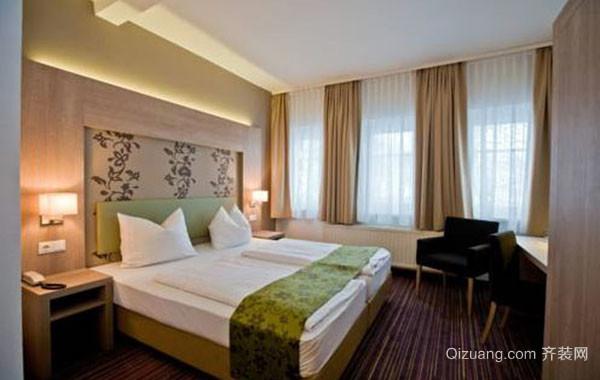 现代中式风格简约时尚卧室装修效果图