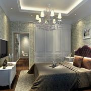 经典美式风格精致卧室吊顶装修效果图鉴赏
